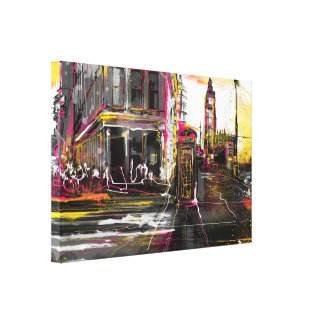 Newyork & London Stretched Canvas Prints