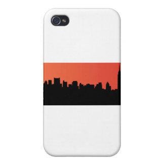 newyork skyline comic style iPhone 4/4S covers