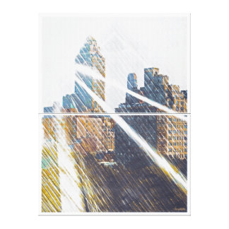 NEWYORK Sun-Rized Stretched Canvas Print