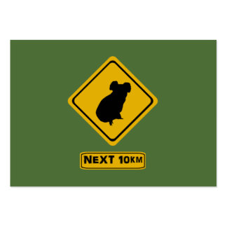 next 10 km koalas large business cards (Pack of 100)