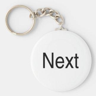 Next Basic Round Button Key Ring