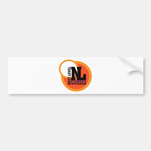 Next Level Fitness Studio Emblem 2 Bumper Stickers