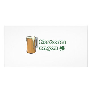 Next Ones on You St Patricks Day Photo Card Template