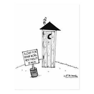 Next Outhouse 22 Miles            Outhouse Cartoon Postcard