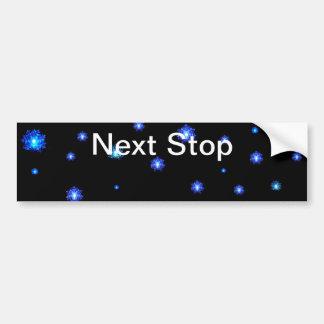Next Stop bumper sticker