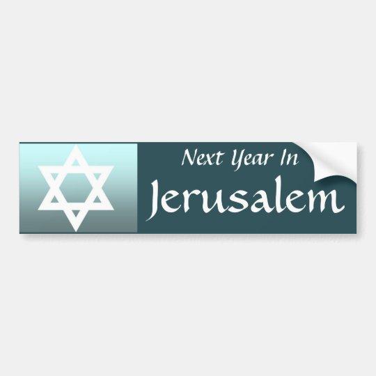 Next Year In Jerusalem Bumper Sticker