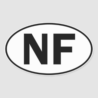NF Oval Identity Sign Oval Sticker