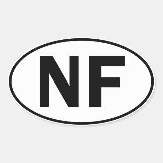 NF Oval Identity Sign Sticker