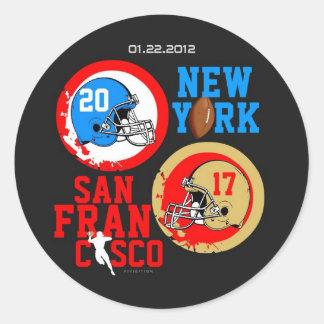 NFC Football 2012 Score Sticker 1