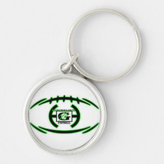 Nffl Grizzlies Under Silver-Colored Round Key Ring