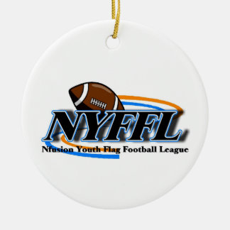 Nfusion Youth Flag Football Nyffl Under 14 Round Ceramic Decoration