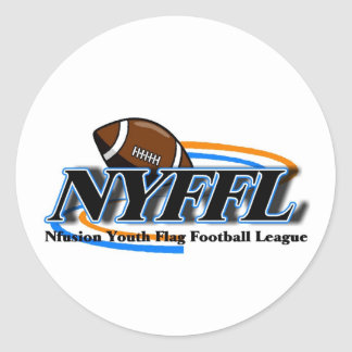 Nfusion Youth Flag Football Nyffl Under 14 Round Sticker