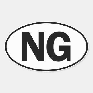 NG Oval Identity Sign Oval Sticker