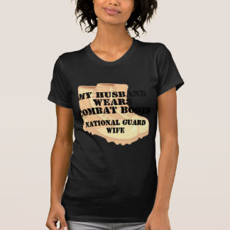 NG Wife Desert Combat Boots T Shirts