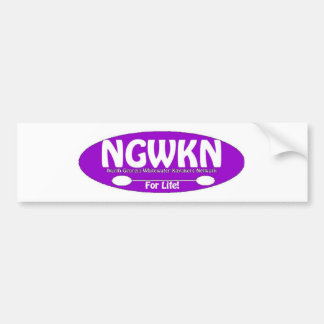 NGAWKN Purple and White Car Bumper Sticker