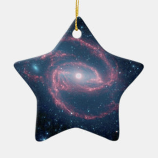 NGC 1097 Coiled Galaxy of the Night Christmas Ornament