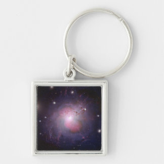 NGC 1275 Perseus cD galaxy Silver-Colored Square Key Ring
