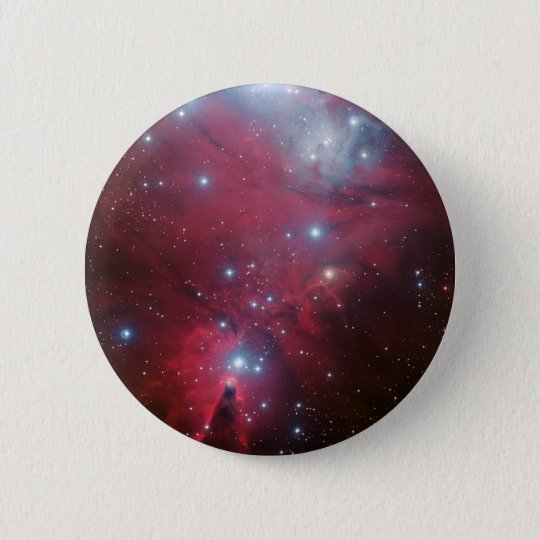 NGC 2264 and the Christmas Tree cluster 6 Cm Round Badge
