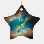 NGC 2818 Planetary nebula glowing Christmas Ornament