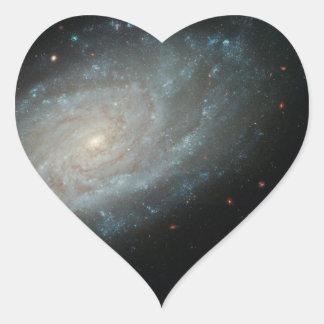 NGC 3370, deep space, spiral galaxy Heart Sticker