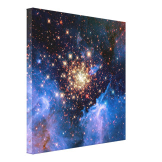 NGC 3603 Star Cluster Gallery Wrap Canvas