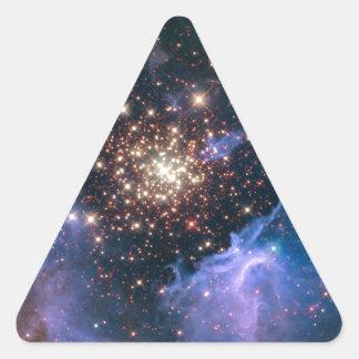 NGC 3603 super star cluster NASA Triangle Sticker