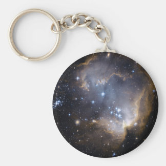 NGC 602 bright stars in the Milky Way Basic Round Button Key Ring