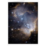 NGC 602 bright stars in the Milky Way Greeting Card