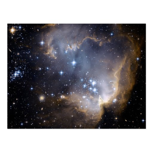 NGC 602 bright stars in the Milky Way Post Card
