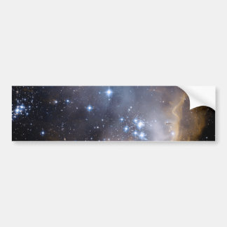 NGC 602 bright stars NASA Bumper Sticker