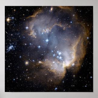 NGC 602 bright stars NASA Poster