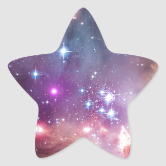 NGC 602: Star Cluster, Small Magellanic Cloud Star Sticker