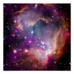 NGC 602 Star Formation - NASA Hubble Space Photo Poster