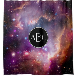 NGC 602 Star Formation with Custom Monogram Shower Curtain