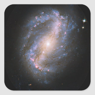 NGC-6217 Barred Spiral Galaxy Square Sticker