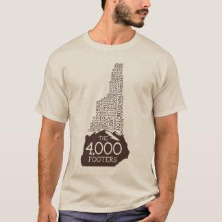 NH 4000 Footers T-Shirt (Brown Logo)