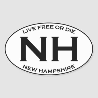 NH - New Hampshire Oval Sticker