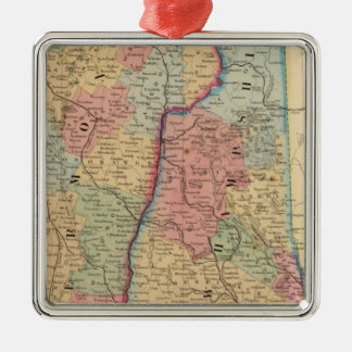 NH, Vermont Map by Mitchell Christmas Ornament