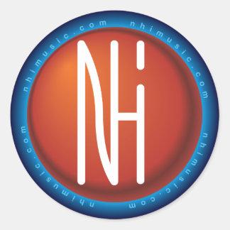 [NHI] Sticker: Logo Round Sticker