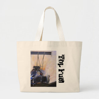 nhra dragster top fuel tote bag