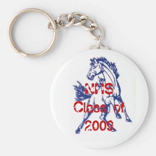 NHS!!  2009!! BASIC ROUND BUTTON KEY RING