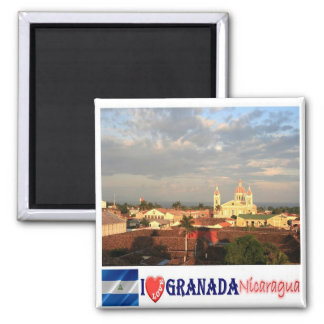 NI - Nicaragua - Granada I Love Square Magnet