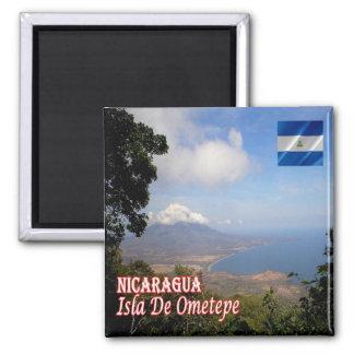 NI - Nicaragua - Ometepe Island Square Magnet