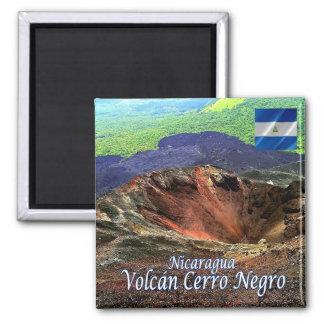 NI - Nicaragua - Volcano Cerro Negro Square Magnet
