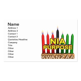 Nia Double-Sided Standard Business Cards (Pack Of 100)