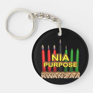 Nia Single-Sided Round Acrylic Key Ring