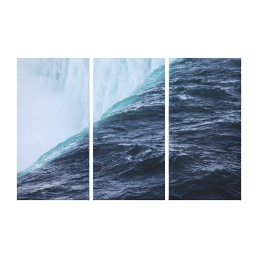 Niagara Fall closeup Wrapped Canvas Canvas Prints