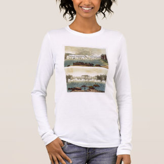 Niagara Falls, 1818 (colour engraving) Long Sleeve T-Shirt