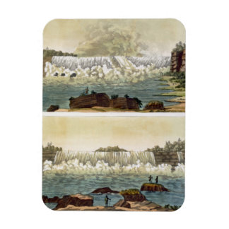 Niagara Falls, 1818 (colour engraving) Magnet