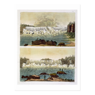 Niagara Falls, 1818 (colour engraving) Postcard